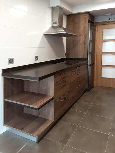 Muebles de cocina en Llodio Laudio imitación madera