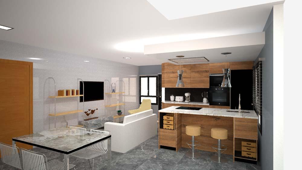Muebles de cocina en Arrigorriaga Bizkaia por Hurblan